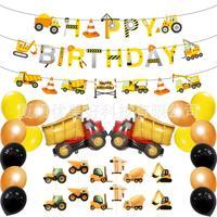 Строительные товары для вечеринки с днем рождения украшения для вечеринки тема строительства с воздушным шаром для самосвала