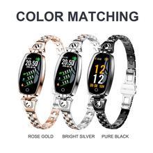 Pulsera inteligente H8 para Android e iOS, reloj deportivo resistente al agua con control del ritmo cardíaco y de la presión sanguínea para mujer