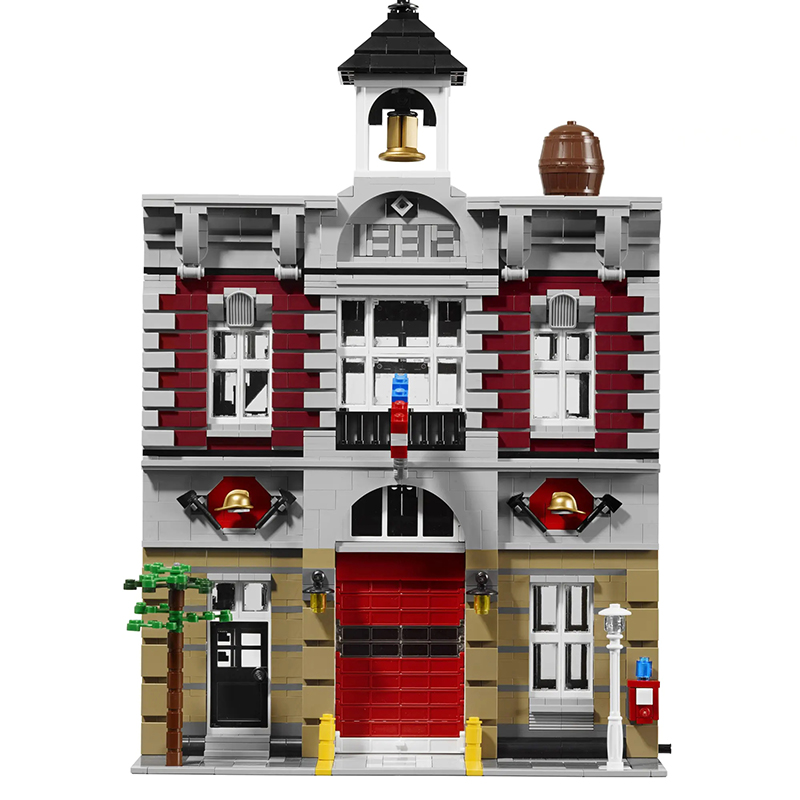 New City Architecture Toys Fire Brigade Station Compatible lepinngly City <font><b>10197</b></font> Building Blocks Toys for Children Birthday Gift image