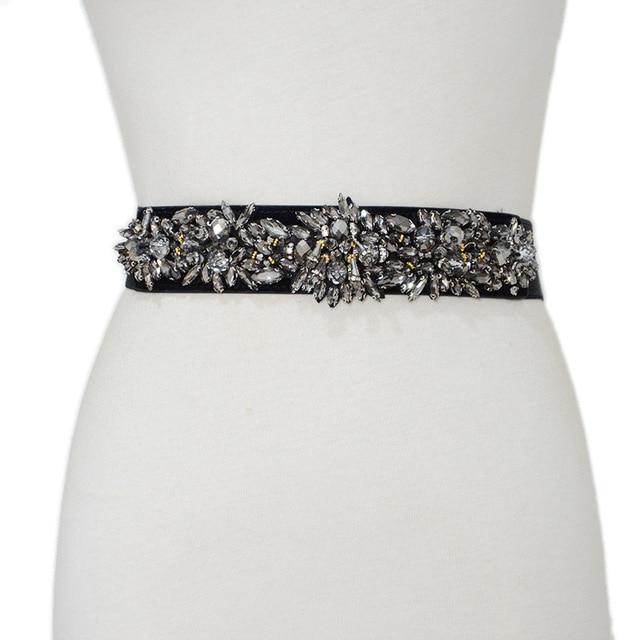 Women Belt Handmade Luxury Elastic Wide Band Crystal Glass Embedded Fashion Gift