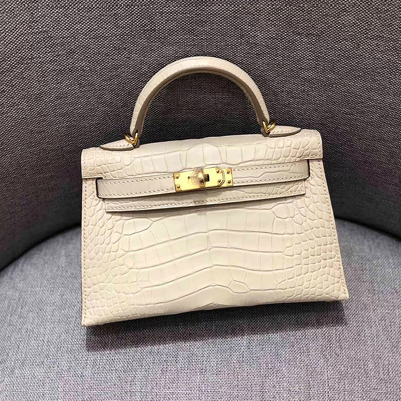 Bag For Women Genuine Leather Bag Female Bag Small Bag All-Match Crocodile Pattern Messenger Bags Luxury  Bags-BeeInFly