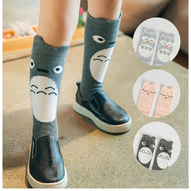 Cute Cartoon Kids Socks Cat Animal Baby Cotton Socks Knee High Long LegWarmers Star Socks Boy Girl Children Panda Socks 0-6 Y