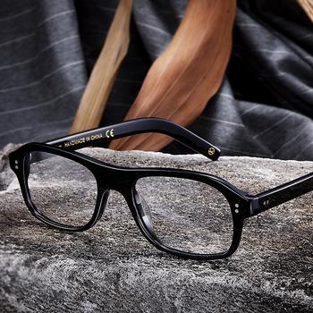 Kingsman Eyelasses ramki złote kółko tajne usługi Cosplay Harry Hart okulary Top Acetate Frame brytyjskie okulary w stylu tanie i dobre opinie QOOLSUN Unisex Octan Stałe kingsman glasses Adult Eyewear Accessories As Pictures Costumes