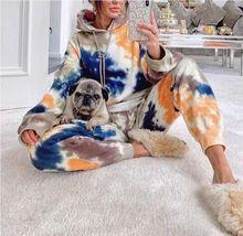 Autumn Fashion Print Hooded Women Pajamas 2020 Casual Long Sleeves Loose Pajama Sets