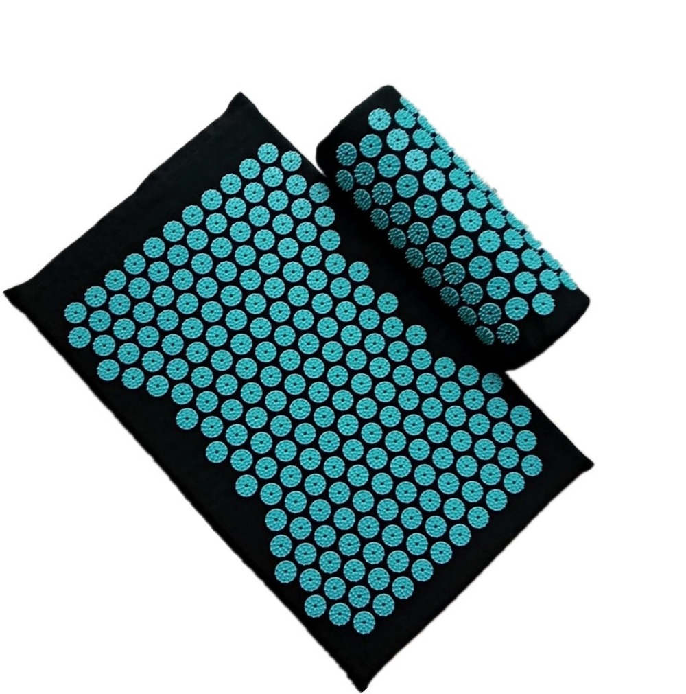 New Goods Gift Acupuncture Yoga Massage Set Mat + Pillow For Women Girls 2 pcs set