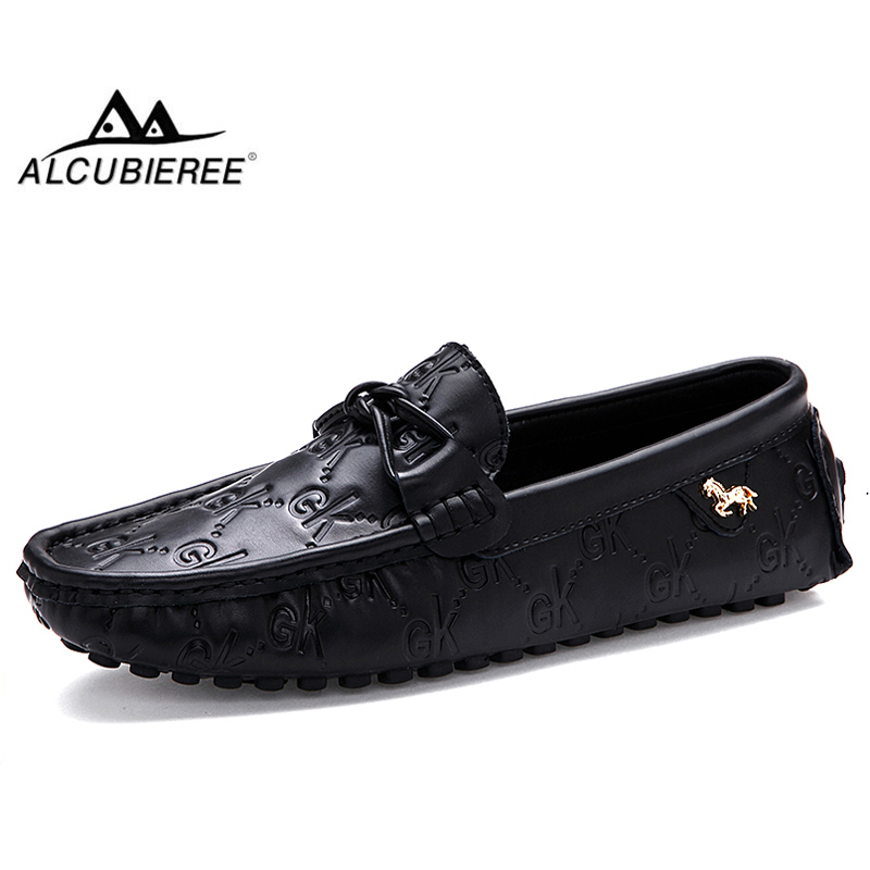 ALCUBIEREE NEW Autumn Men's Casual Loafers Comfortable Flat Driving Shoes Men Breathable Slip-On Moccasins Walking Footwear