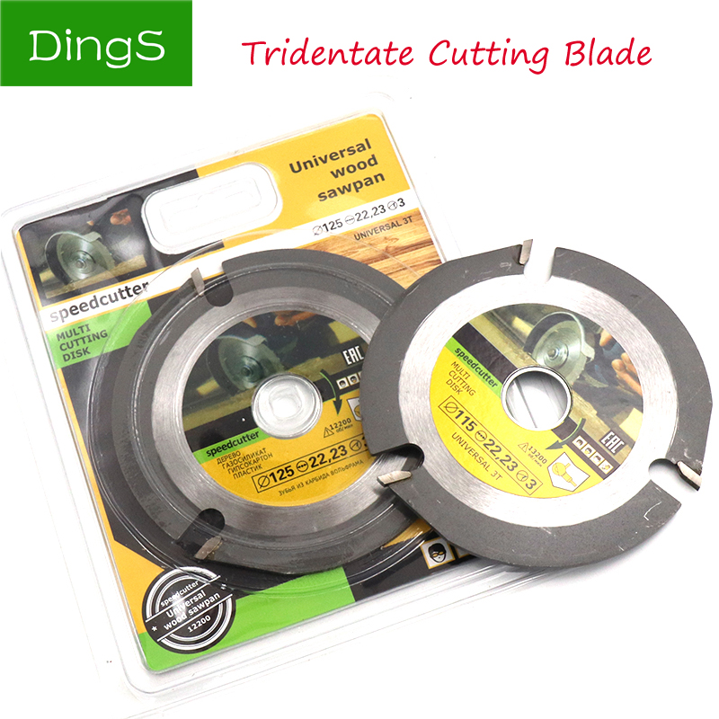 1pcs 115/125mm Carbide Circular Saw Blade Multitool Grinder Saw Disc Tipped Woodworking Chain Plate Blades Wood Cutting Disc