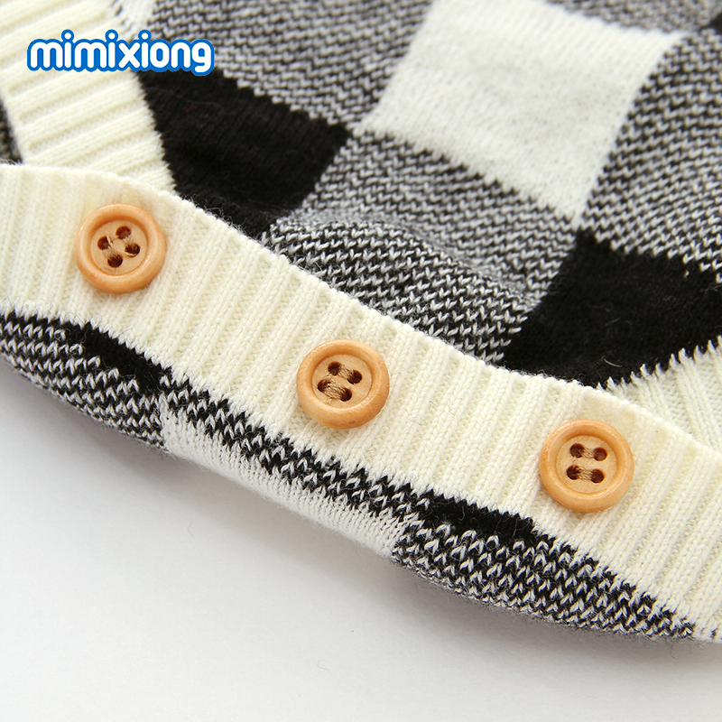 Baby Bodysuits Long Sleeve Newborn Girls Body Suits Clothes Autumn Christmas Knitted Infantil Bebes Boys Onesie Coveralls 0 18M in Bodysuits from Mother Kids