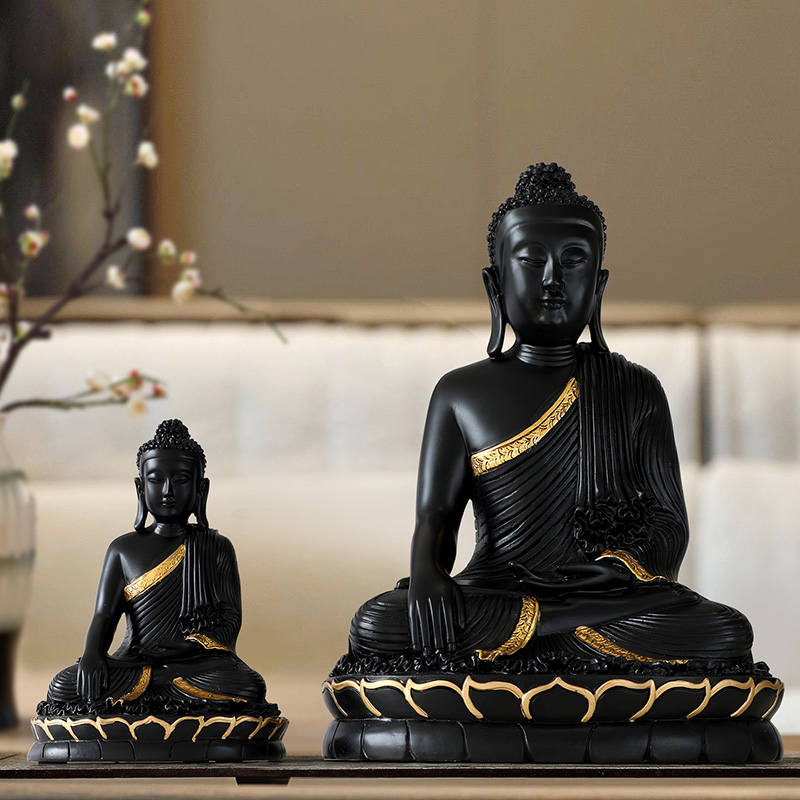 Resin Statuette bouddha large Buddha decor home decor Buddha statue home decoration accessories for living room Buddha figurine|Statues & Sculptures| |  - title=