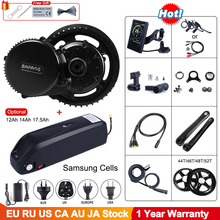 48v 750w bafang bbs02b mid drive ebike motor kit de conversão bicicleta elétrica com 12ah 17.5ah 52v 14ah bateria da bicicleta samsung célula