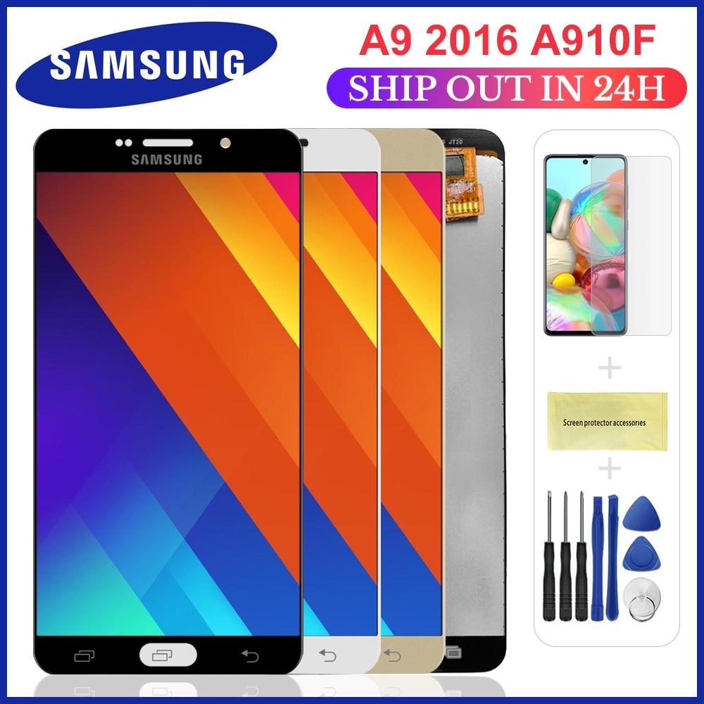 ЖК-дисплей A910 для SAMSUNG Galaxy A9, сменный сенсорный экран с цифровым преобразователем 2016 A9 Pro A910 A9100