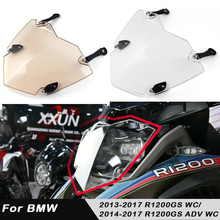 ABS Plastics Front Headlight Lens Guards Protector Cover For BMW R1200GS  ADV WC 14-17 Transparent Guard lens