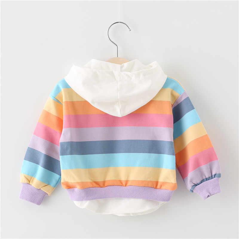 2019 Nieuwe Lente Herfst Baby Meisjes Kleding Katoen Hooded Sweater Cartoon Kinderen Casual Sportswear Baby Kleding
