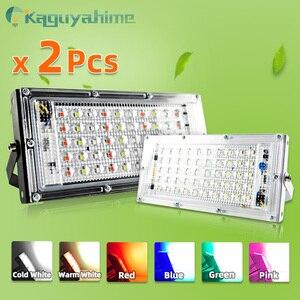 =(K)= 2pcs LED Flood Light 50W 100W RGB Floodlight IP65 Waterproof Outdoor Street Spot Wall Reflector Lighting Garden Spotlight(China)