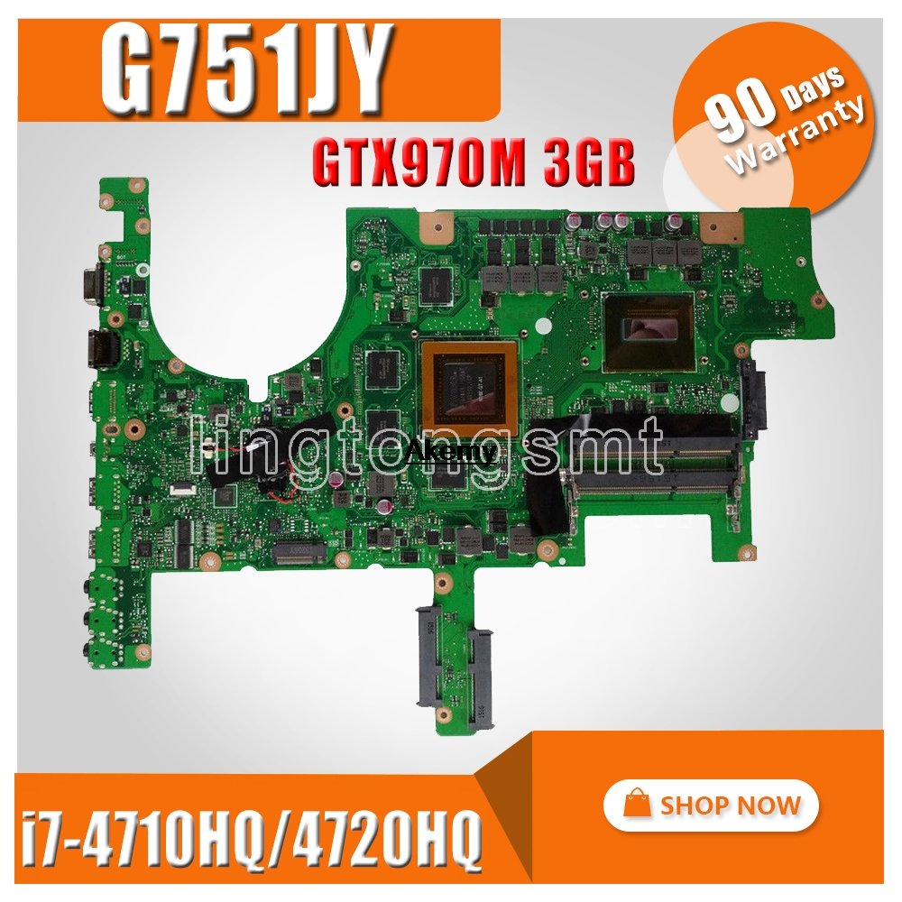 <font><b>G751JY</b></font> GTX 970M/3GB/I7-4710HQ/4720HQ Laptop Motherboard For <font><b>Asus</b></font> <font><b>ROG</b></font> G751 G751J <font><b>G751JY</b></font> G751JT Notebook Mainboard Rev 2.0 image