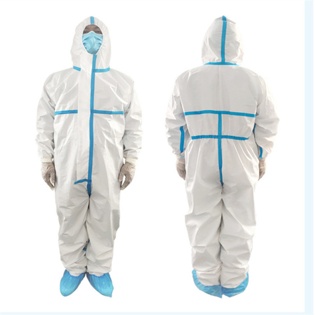 Professional Protective Clothing Coveralls Hazmat PPE Suit Hospital Disposable Anti-Virus Isolation Protective Clothing 1