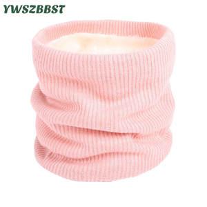 Baby Scarf Mufflers Neck-Warmer Knitted Girls Winter Boys Children Cotton Women Thick