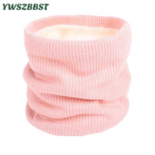 Unisex Winter Boys Girls Women Men Warm Knitted Scarves Kids Thick Elastic Mufflers Children Neck Warmer Cotton Baby Scarf