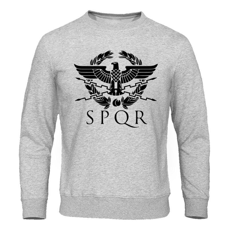2019 Autumn New Warm Men Hoodie Sweatshirt SPQR Roman Rome Senate Military Faction Eagle Hoodies Mens Fashion Brand Sweatshirts