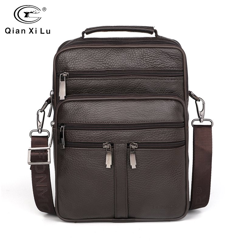 2019 New Men Messenger Bags Casual FONMOR Multifunction Genuine Leather Briefcases Men's Fashion Crossbody Bags Handbags