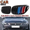 Для BMW E63 2004 2005 2006 2007 2008 2009 автомобильные аксессуары  передний бампер  решетка для гриля  сменная решетка  черный глянец  M Цвет