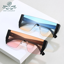 D&T 2020 New Fashion Rectangle Sunglasses Women Men Gradient