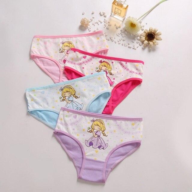 Mädchen Höschen 4 Stück Kinder Baumwolle Unterwäsche Mädchen Cartoon Höschen für Kinder 2-12 Jahre 5