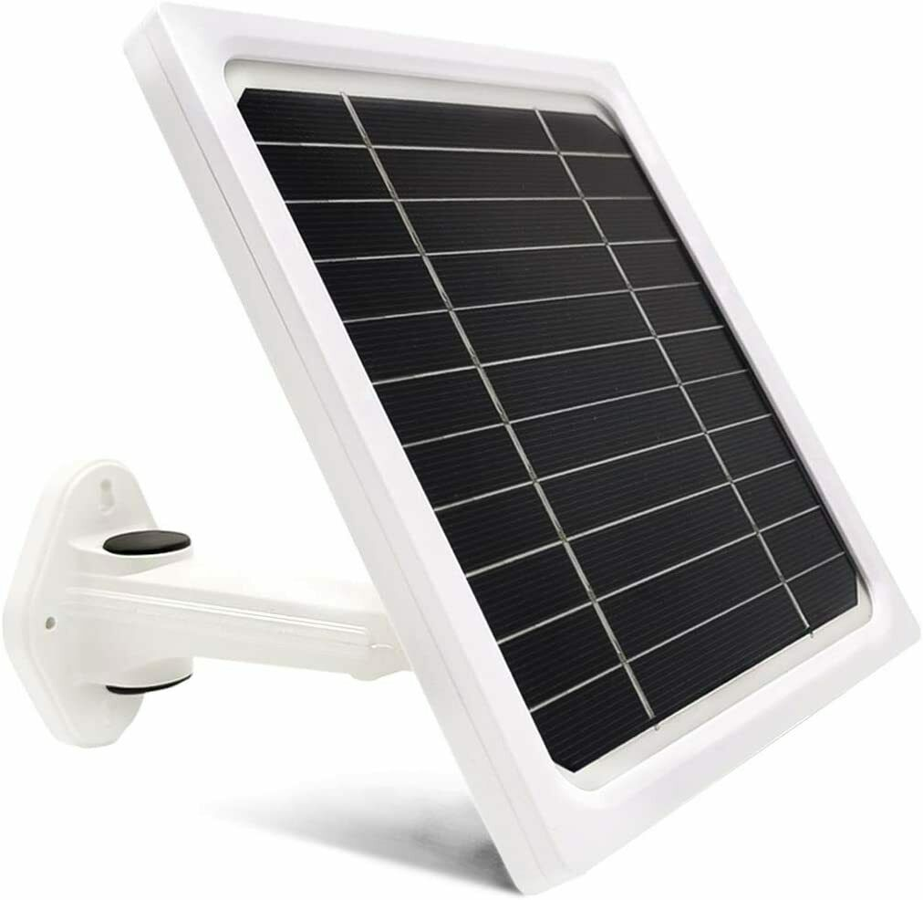 5Watt Solar Panel For Eufycam E/Eufycam 2C Continuous Power Maintain Battery Lif