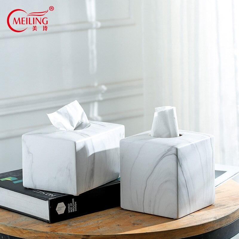 Tissue Box Cover Pumping Paper Hotel Car Home Decor Napkin Holder Box Bamboo