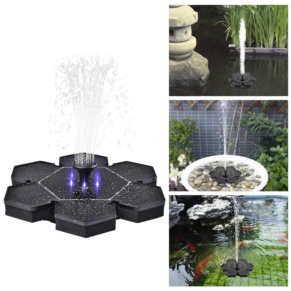 LED 2.4W With <font><b>Battery</b></font> Solar Garden Miniature Floating Fountain Solar Water Flowing Fountain Pump Outdoor Suspended Circular <font><b>Sola</b></font> image