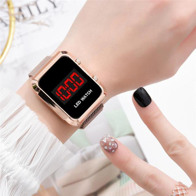 Fashion Women Magnet Buckle Gifts Watches Luxury Stainless Steel Mesh Band Female Wristwatches Casual Magnetic Woman 2020 Clock 1