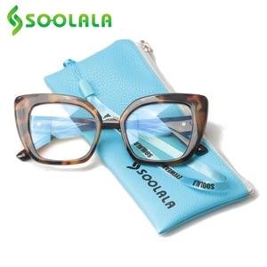 Image 4 - SOOLALA uroczy kot oko kwadratowe okulary do czytania z sercem ramiona kobiety nadwzroczność okulary do czytania + 1.0 1.25 1.5 1.75 do 4.0