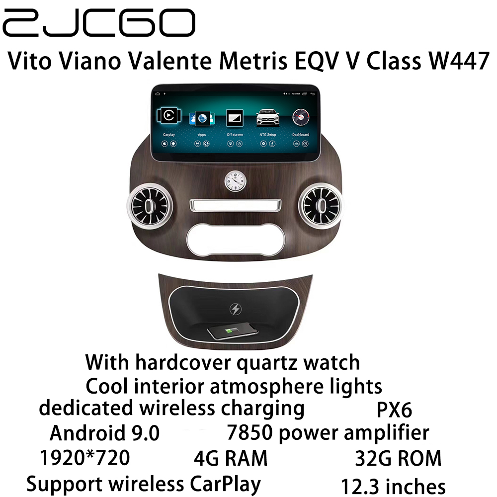 Car Multimedia Player Stereo GPS DVD Radio Navigation <font><b>Android</b></font> Screen for Mercedes Benz Vito Viano Valente Metris V Class <font><b>W447</b></font> image