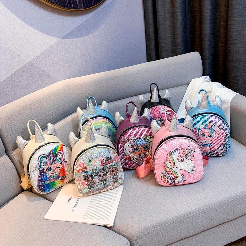 L.O.L. SURPRISE! Backpack For Girl  Knapsack Cartoon Unicorn Shape Kids Schoolbag Satchel Student Rucksack Teenagers Book Bag