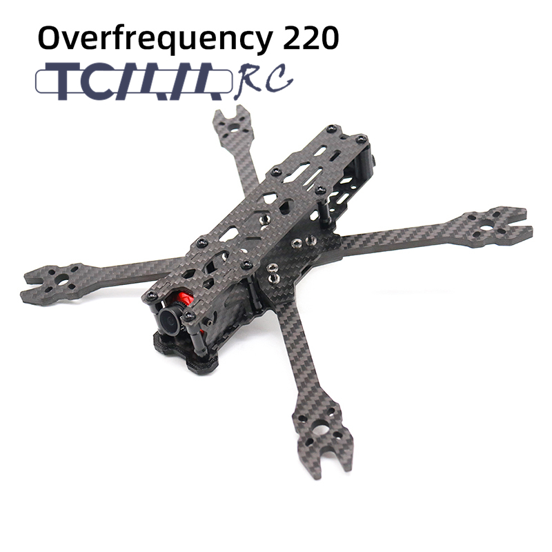 TCMMRC FPV Frame Kit Carbon Fiber Overfrequency 220 220mm 5 Inch  5mm Arm With 3D Printed Parts for RC FPV Racing Drone