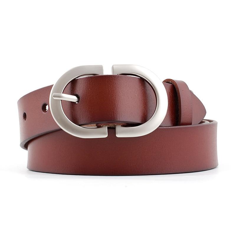 2020 New Desinger Women's Wide Black Red Brown Genuine Leather Belt Male Female Silver Buckle Belts for Women Men Jeans Trousers