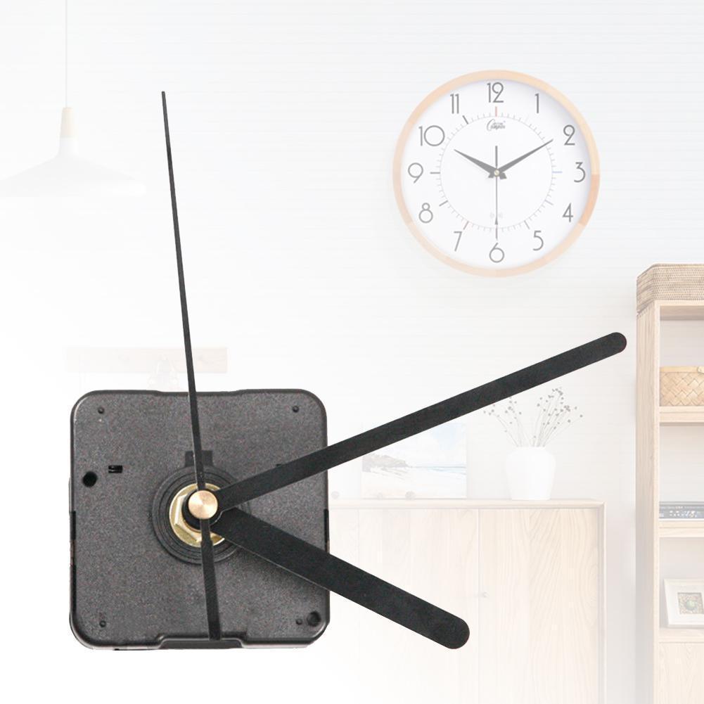 Bricolage mur Quartz horloge silencieux grand mouvement mécanisme mains Kit outil crochet réparation remplacement décor avec L2T3