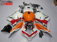 цена на Injection ABS Plastic Fairing Kit For Honda CBR600RR F5 2009-2012 Motorcycle Fairing CBR 600RR 09-12 Gloss Wihte Repsol Bodywork