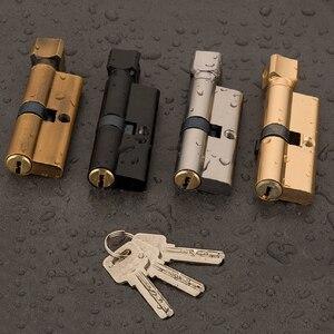 Дверной цилиндрический замок, предвзятый 70 мм, 3 ключа, Противоугонный вход, латунный дверной замок AB, домашний замок безопасности, Внутренн...
