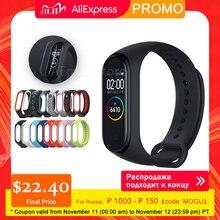 Xiaomi Mi Band 4 Xiaomi Miband חכם Wristbands Miband 4 Bluetooth 5.0 צמיד לב קצב כושר 135mAh צבע