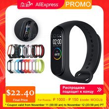 Xiaomi mi banda 4 xiaomi miband pulseiras inteligentes miband 4 bluetooth 5.0 pulseira de freqüência cardíaca fitness 135mah cor