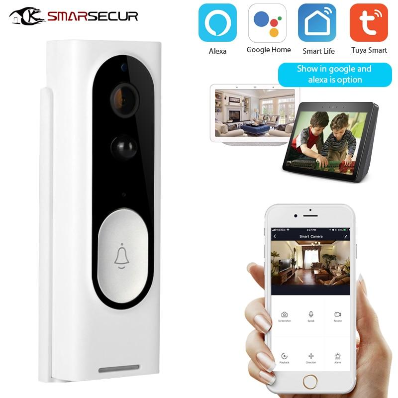 Tuya Smart Wifi Doorbell Camera Ring Door Bell Tuya Smart Life App Intercom PIR Motion Detector Night Vision Security Camera