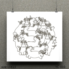 ZhuoAng unicorn Clear Stamps For DIY Scrapbooking/Card Making Decorative Silicon Stamp Crafts