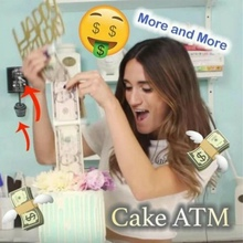Банкомат деньги вытягивание торт Блеск Топпер для торта «С Днем Рождения» Копилка Забавный торт делая плесень украшения торта поставки