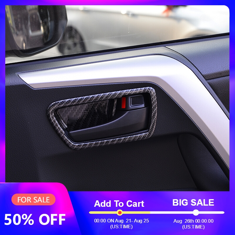 Carbon Fiber Door Bowl Trim Cover For Toyota RAV4 2014 2015 2016 Interior Door Bowl Sticker For Toyota RAV4 2017 2018