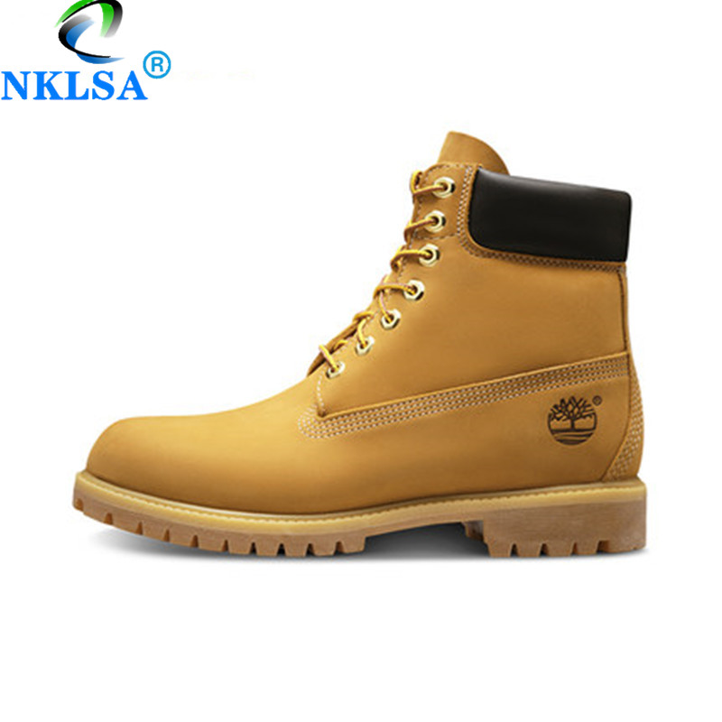 NKLSA 2019 Unisex Boots for Martin Motorcycle Boots Genuine Leather Cowboy Ankle Boot Female Winter Shoes Men Punk Boots Lace Up