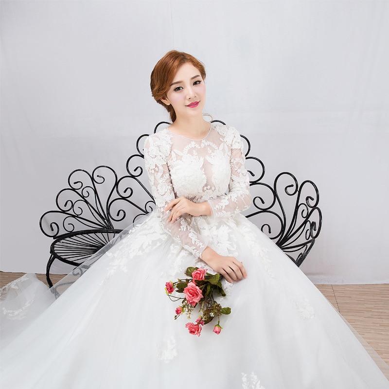 Vestido De Festa Sale 2020 New Trailing Han Edition Dress Princess Dream Palace Light Show Thin Long Sleeve Wedding Department