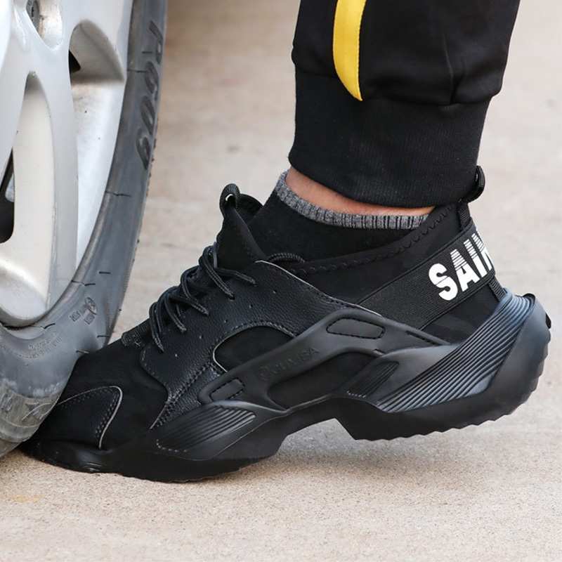Work Safety Shoes Men Boots 2020 New Sneakers Anti-Smashing Indestructible Shoes Puncture-Proof Work Boots With Steel Toe Cap