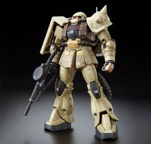 Orijinal Bandai Gundam modeli PB RG 1/144 MS-06F ZAKU MINELAYER MSD Unchained mobil takım elbise çocuk oyuncakları