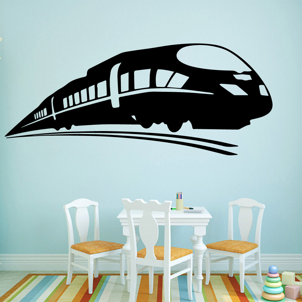 Funny Train Family Wall Stickers Mural Art Home Decor Decorative Vinyl Decals for Kids Room Decoration Boys LW108
